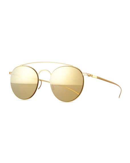 Aviator-Style Stainless Steel Sunglasses Mykita