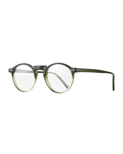 Capri Round Optical Frames w/ Clip-On Sunglasses