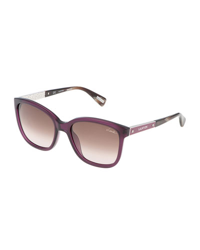 Butterfly Logo-Bar Sunglasses