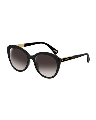 Cat-Eye Logo-Bar Sunglasses