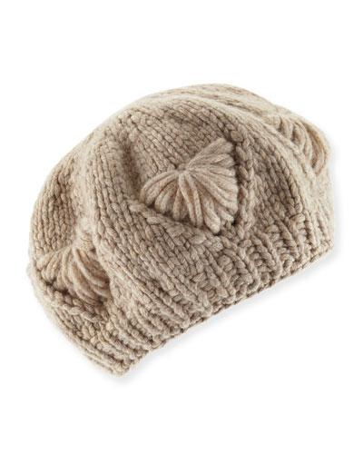 Cashmere Knit Beret Hat