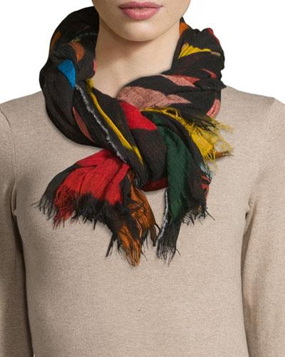 Hojas Knit Scarf, Multicolor