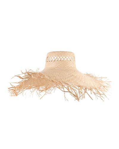 Delilah Vented Sun Hat, Natural