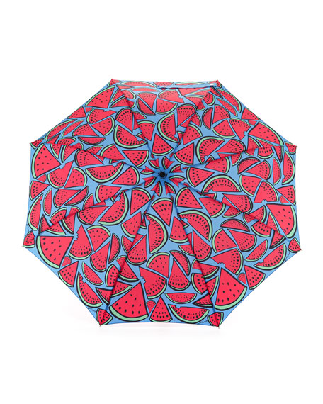 Watermelon-Print Umbrella, Pink