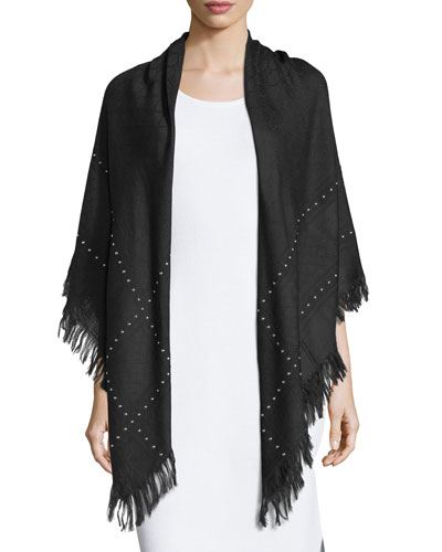 Studded Survie C.O. Shawl, Black