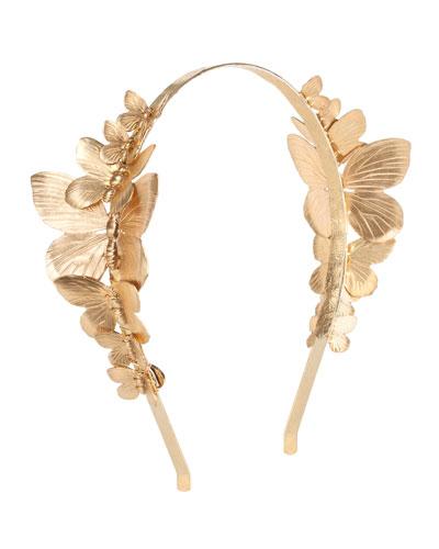 Venus Butterfly Cocktail Headband, Gold