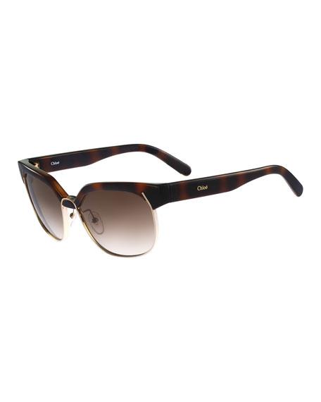 Dafne Geometric Butterfly Sunglasses