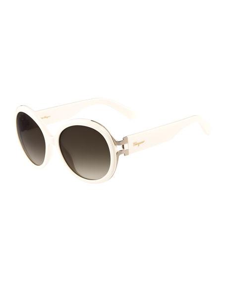 Gancio Oversize Round Sunglasses