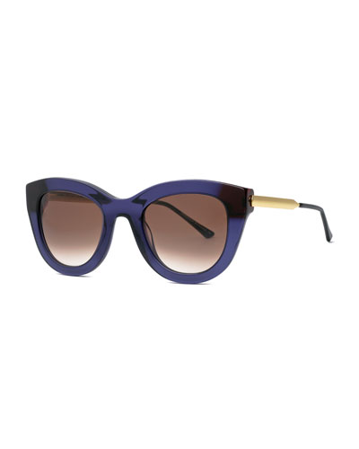 Cupidity Cat-Eye Sunglasses, Purple
