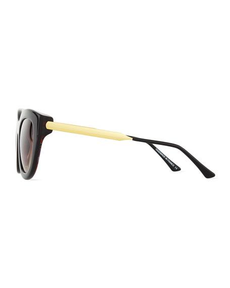 Cupidity Cat-Eye Sunglasses, Brown/Blue