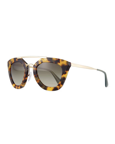 Square Brow-Bar Sunglasses