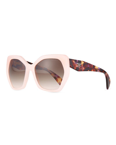 Angled Butterfly Sunglasses, Rose