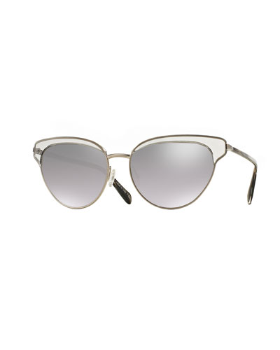 Josa Trimmed Cat-Eye Sunglasses
