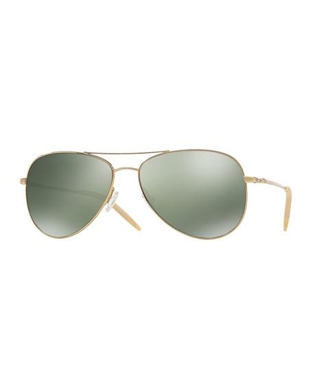 Kannon Polarized Aviator Sunglasses, Gold