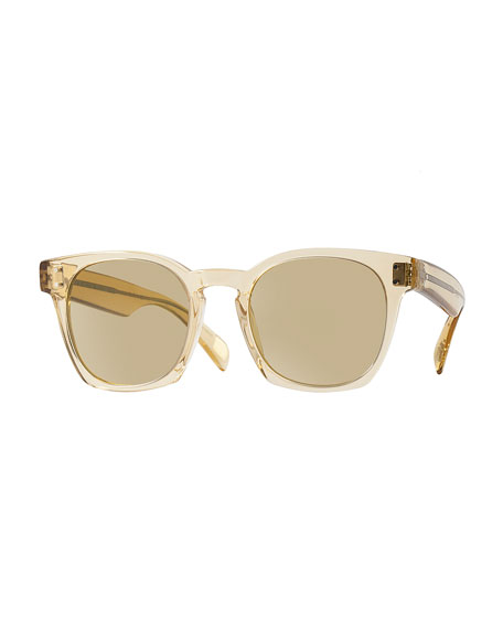 Byredo Photochromic Square Sunglasses, Transparent Champagne
