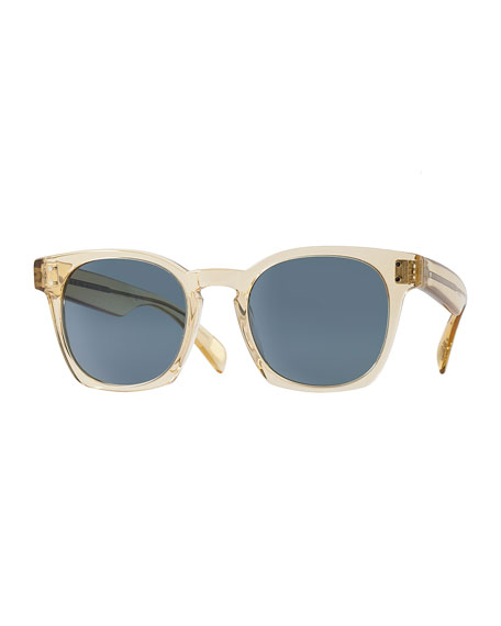 Byredo Photochromic Square Sunglasses, Transparent Champagne