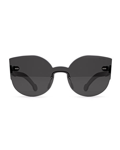 Tuttolente Lucia Cat-Eye Sunglasses, Black
