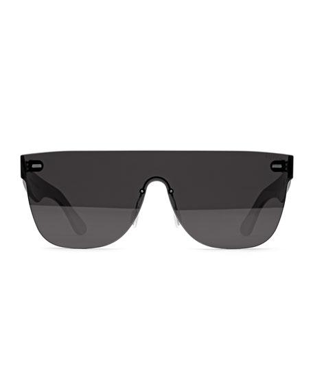 Tuttolente Flat Top Sunglasses, Black