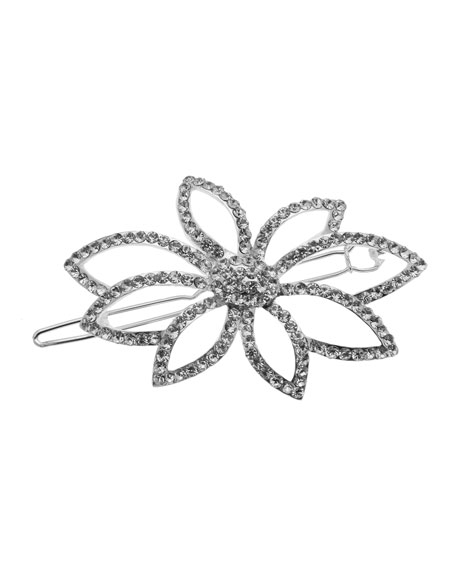 L. Erickson Rhinestone Flower Paramount Barrette w/ Tige