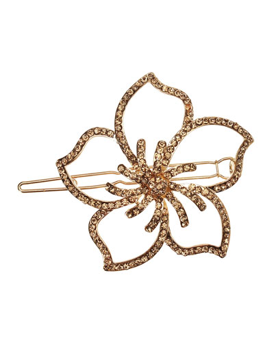 Rhinestone Hawaiian Flower Barrette