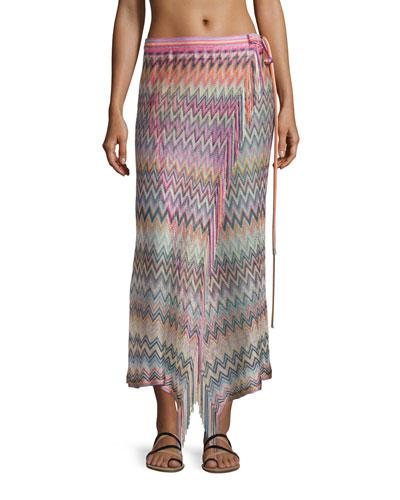 Zigzag Pareo W/Tie, Multicolor