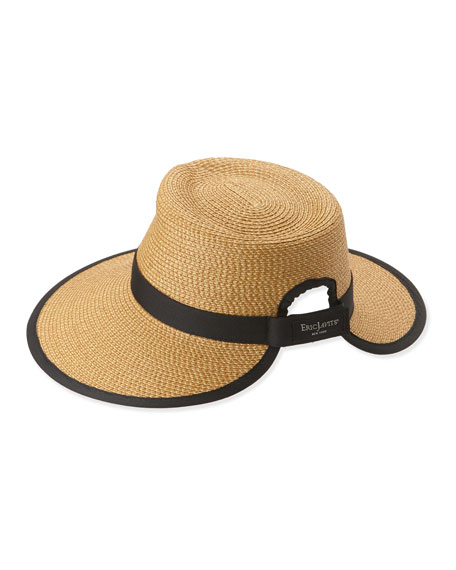74b7d490d Sun Crest Woven Sun Hat Natural/Black