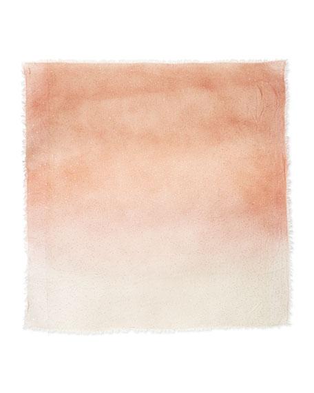 Monique Ombre Metallic Square Scarf, Peach