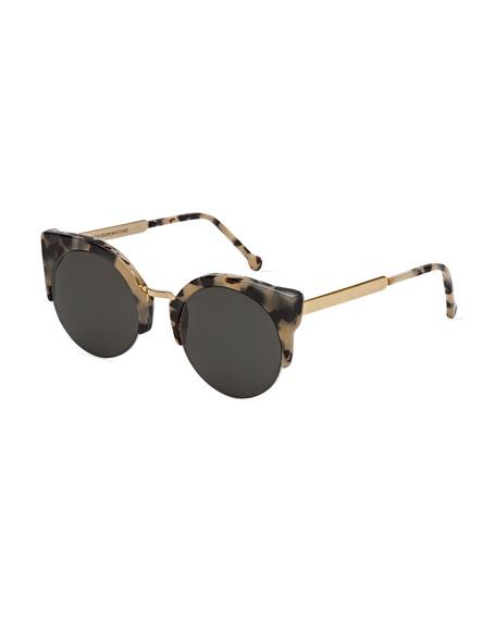 Lucia Francis Puma Sunglasses, Tortoise