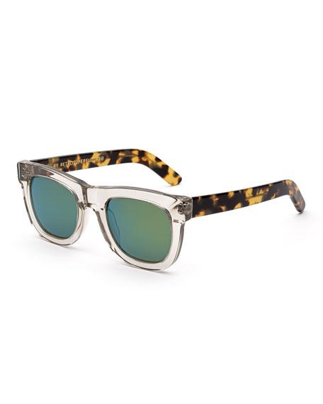 63d179a67ec8 Super by Retrosuperfuture Ciccio Sportivo Square Sunglasses, Clear/Tortoise
