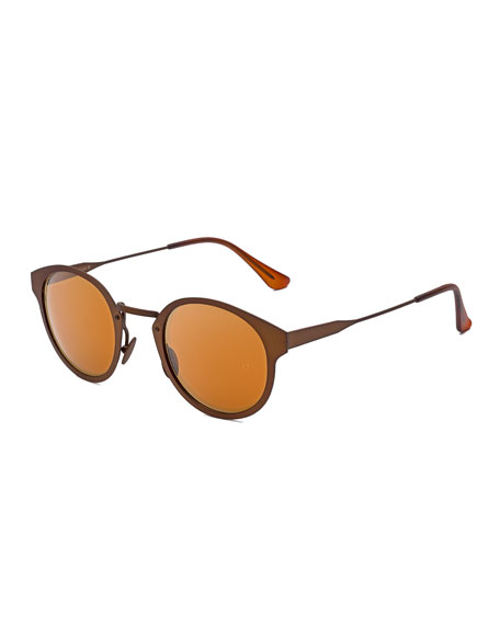 Panama Synthesis Round Sunglasses, Bronze