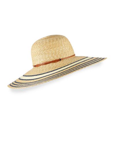 Luna Striped Wide-Brim Sun Hat
