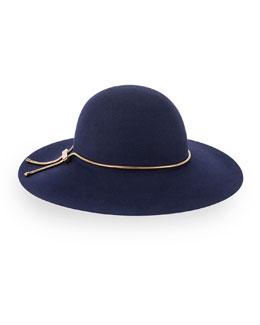 Wide-Brim Snake-Chain Hat