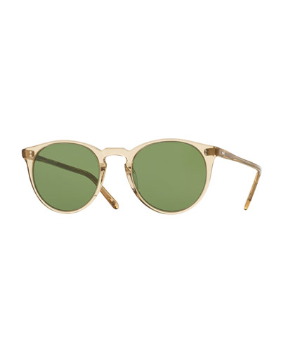 O'Malley NYC Peaked Round Sunglasses, Yellow
