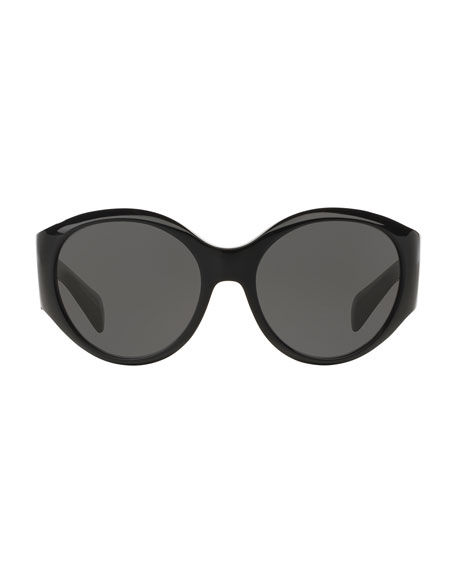 Don't Bother Me Oval Sunglasses, Black