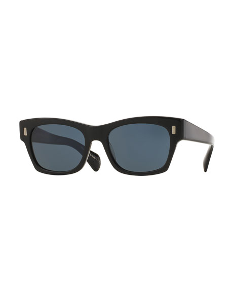 7036ed50d3 Oliver Peoples The Row 71st Street Square Sunglasses, Black/Blue