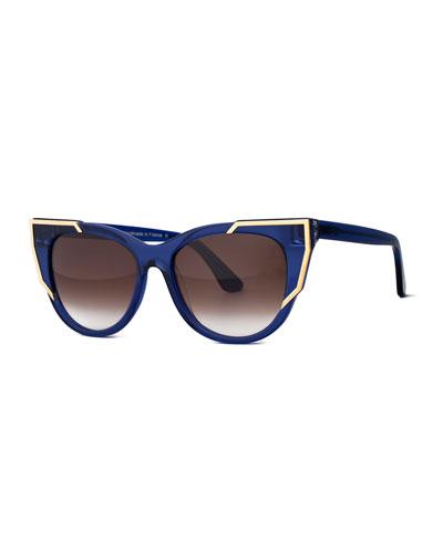 Butterscotchy Cat-Eye Sunglasses, Purple