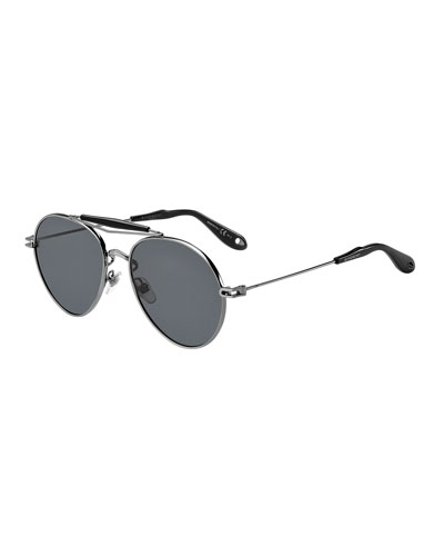 Polarized Aviator Sunglasses, Gray