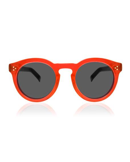Leonard II Two-Tone Sunglasses, Red/Black