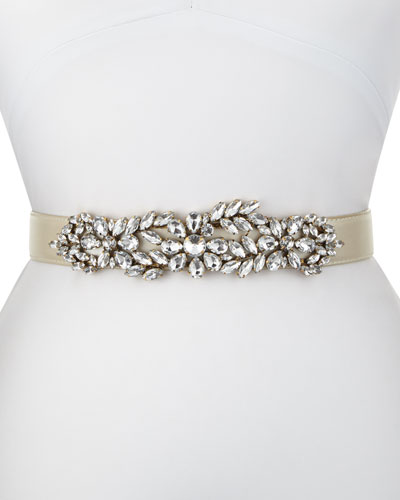 Madame Butterfly Stretch Belt, White