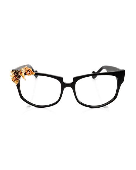 Seeking Summer Square Optical Frames, Black