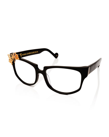 Anna-Karin Karlsson Seeking Summer Square Optical Frames, Black