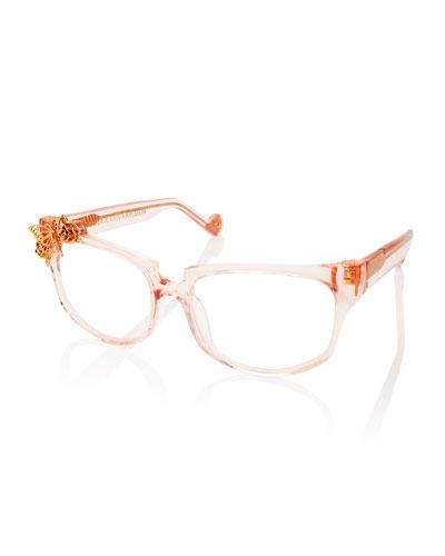 Seeking Summer Square Optical Frames, Pink