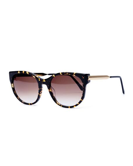 Axxxexxxy Butterfly Sunglasses, Dark Brown Havana
