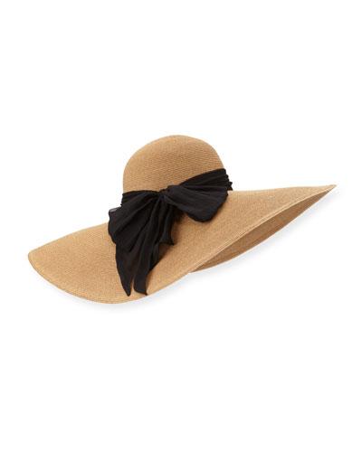 Sunny Wide-Brim Sun Hat, Camel