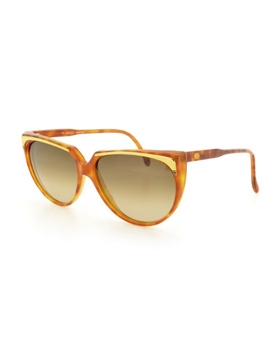 Gradient Cat-Eye Sunglasses, Light Havana