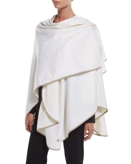 Regina Cashmere Wrap/Cape, White