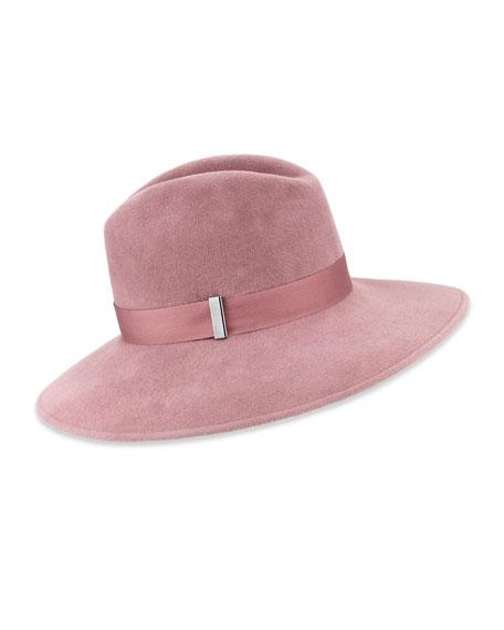 Gigi Burris Requiem Handmade Wool Wide-Brim Fedora Hat,
