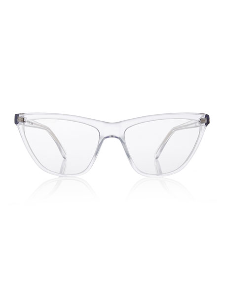Cairo Cat-Eye Optical Frames, Clear