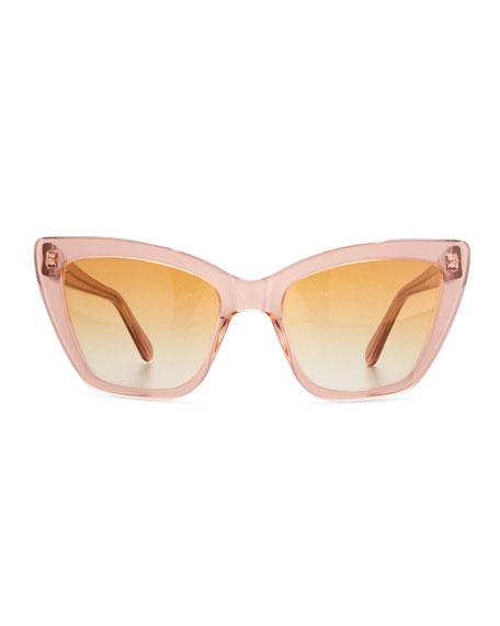Calvi Cat-Eye Sunglasses, Rouge