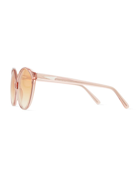 Istanbul Cat-Eye Acetate Sunglasses, Rouge